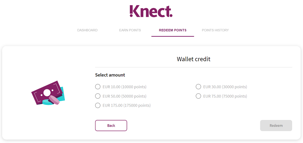 skrill knect redeem points