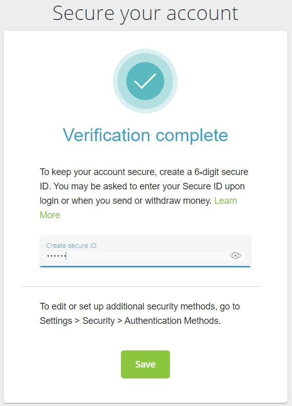 Neteller secure ID