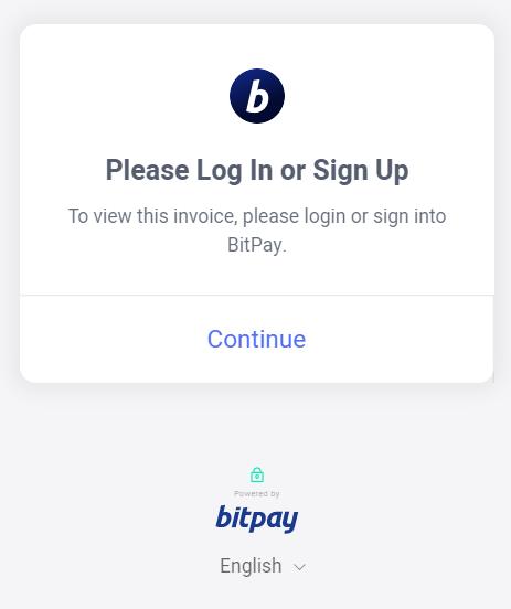 Bitpay login