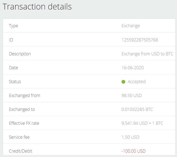 Exchange Neteller from USD to BTC