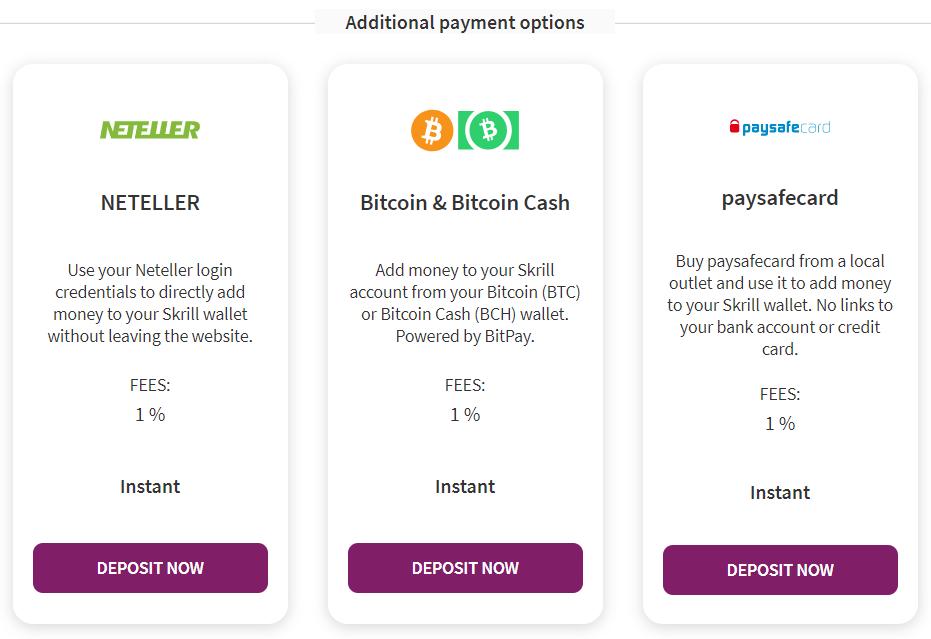 Skrill Bitcoin deposit