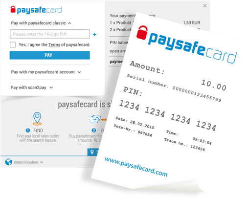 Casinos accepting PaysafeCard