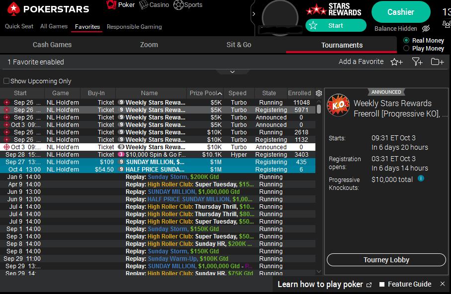 Freeroll in poker games